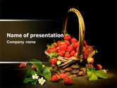 Food & Beverage: Strawberries PowerPoint Template #04942