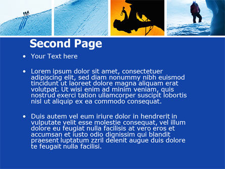 Mountain Climber PowerPoint Template, Slide 2, 04944, Sports — PoweredTemplate.com