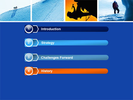 Mountain Climber PowerPoint Template, Slide 3, 04944, Sports — PoweredTemplate.com
