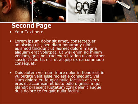 Barber PowerPoint Template Slide 2