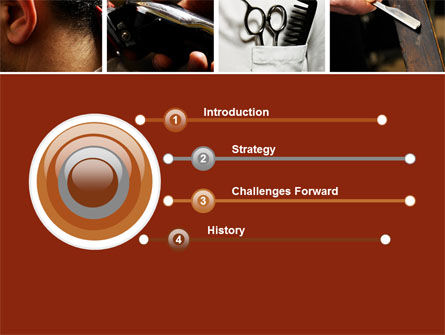 Barber PowerPoint Template, Slide 3, 04945, Careers/Industry — PoweredTemplate.com