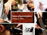 Careers/Industry: Barber PowerPoint Template #04945