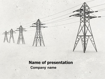 Technology and Science: Power Lines PowerPoint Template #04947