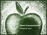 Art & Entertainment: Sketch Apple PowerPoint Template #04948