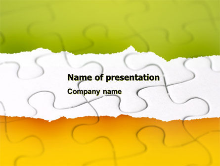Puzzle Completed PowerPoint Template, 04949, Consulting — PoweredTemplate.com