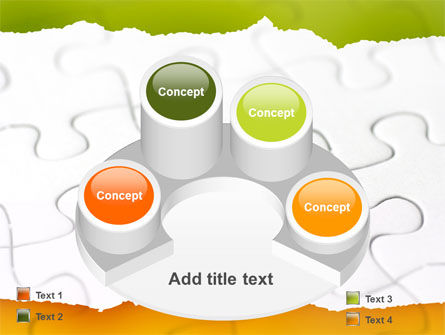 Puzzle Completed PowerPoint Template Slide 12