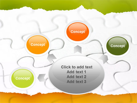 Puzzle Completed PowerPoint Template Slide 7