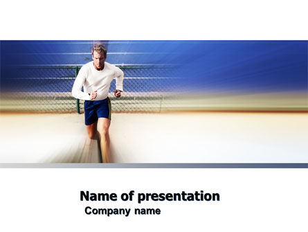 Sports: Jogging PowerPoint Template #04950