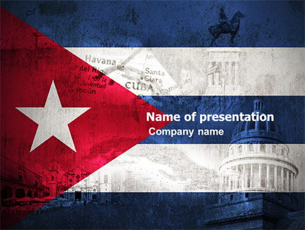 Flags/International: Cuba PowerPoint Template #04953