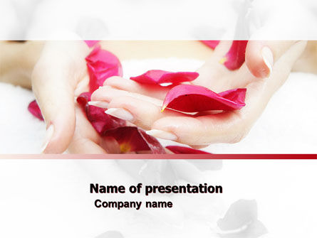Medical: Scent Flower Petals PowerPoint Template #04955