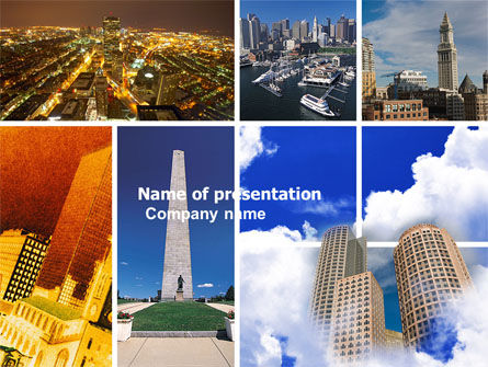 Construction: Boston PowerPoint Template #04957