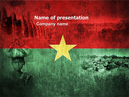 Flags/International: Burkina Faso PowerPoint Template #04958