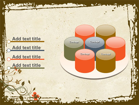 Floral Pattern PowerPoint Template Slide 12