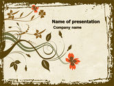 Abstract/Textures: Floral Pattern PowerPoint Template #04960