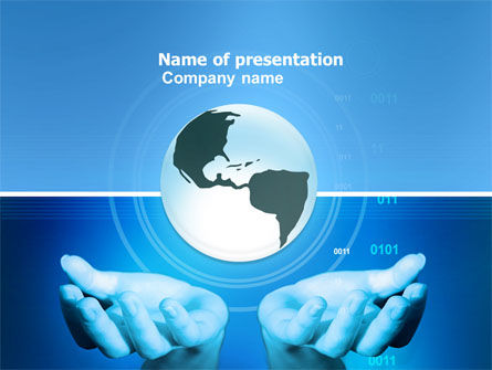 World Influence Free PowerPoint Template, 04961, Global — PoweredTemplate.com
