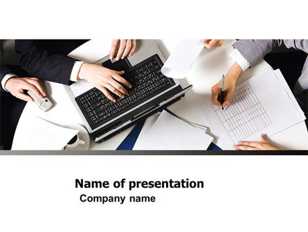 Business: Team Meeting PowerPoint Template #04963