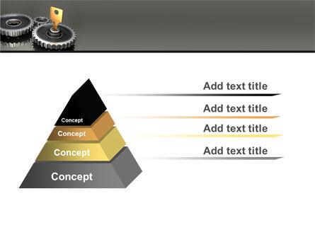 Key To Lock Mechanism PowerPoint Template Slide 12