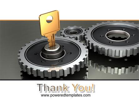 Key To Lock Mechanism PowerPoint Template Slide 20