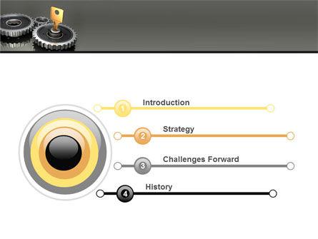 Key To Lock Mechanism PowerPoint Template, Slide 3, 04966, Business Concepts — PoweredTemplate.com