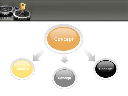 Key To Lock Mechanism PowerPoint Template, Slide 4, 04966, Business Concepts — PoweredTemplate.com