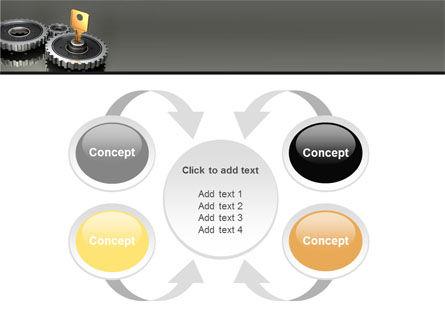 Key To Lock Mechanism PowerPoint Template Slide 6