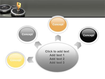 Key To Lock Mechanism PowerPoint Template Slide 7