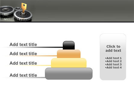 Key To Lock Mechanism PowerPoint Template Slide 8