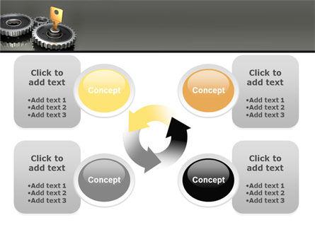 Key To Lock Mechanism PowerPoint Template Slide 9