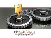 Key To Lock Mechanism PowerPoint Template#20