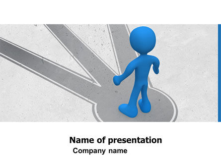 Choosing Way PowerPoint Template, 04967, Consulting — PoweredTemplate.com
