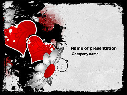 Heart Pattern PowerPoint Template, 04968, Holiday/Special Occasion — PoweredTemplate.com
