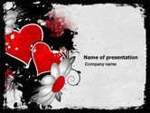 Holiday/Special Occasion: Heart Pattern PowerPoint Template #04968
