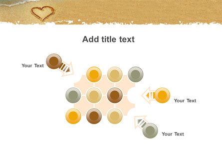 Heart On Sand PowerPoint Template Slide 10