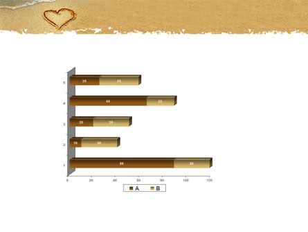 Heart On Sand PowerPoint Template Slide 11