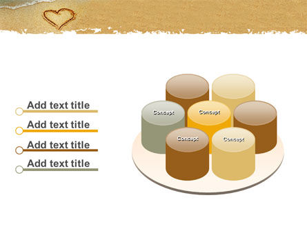 Heart On Sand PowerPoint Template Slide 12