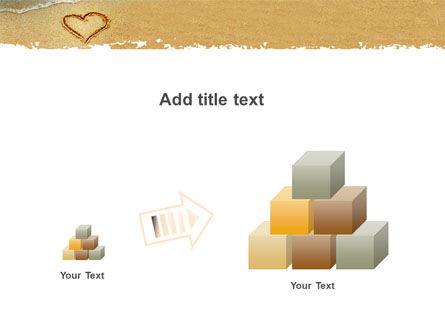 Heart On Sand PowerPoint Template Slide 13