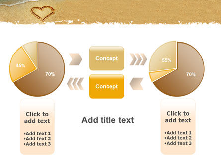 Heart On Sand PowerPoint Template Slide 16