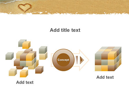 Heart On Sand PowerPoint Template Slide 17