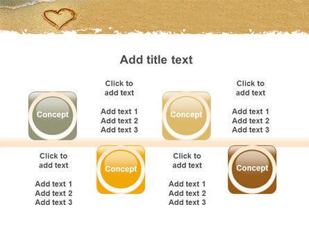 Heart On Sand PowerPoint Template Slide 18