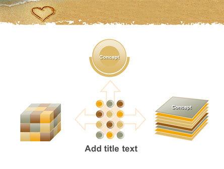 Heart On Sand PowerPoint Template Slide 19