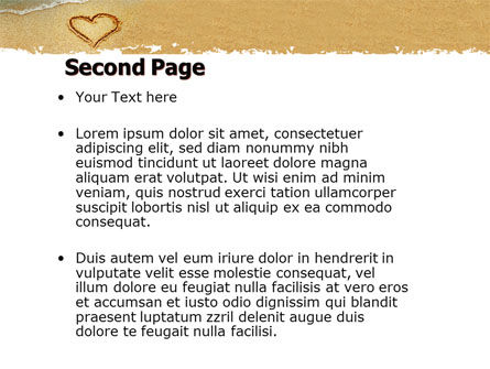 Heart On Sand PowerPoint Template, Slide 2, 04969, Holiday/Special Occasion — PoweredTemplate.com