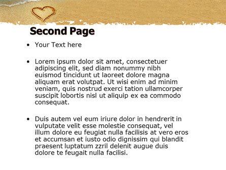 Heart On Sand PowerPoint Template Slide 2