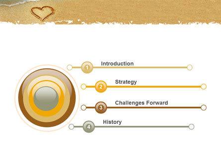 Heart On Sand PowerPoint Template, Slide 3, 04969, Holiday/Special Occasion — PoweredTemplate.com