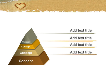 Heart On Sand PowerPoint Template Slide 4