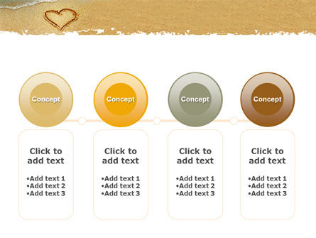 Heart On Sand PowerPoint Template Slide 5