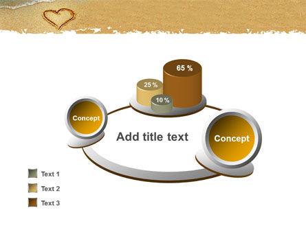 Heart On Sand PowerPoint Template Slide 6