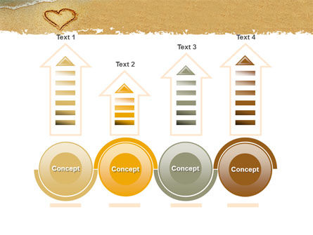 Heart On Sand PowerPoint Template Slide 7