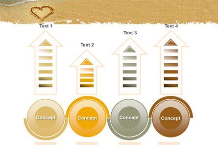 Heart On Sand PowerPoint Template Slide 7