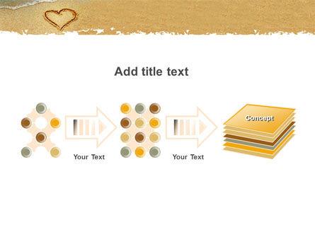 Heart On Sand PowerPoint Template Slide 9