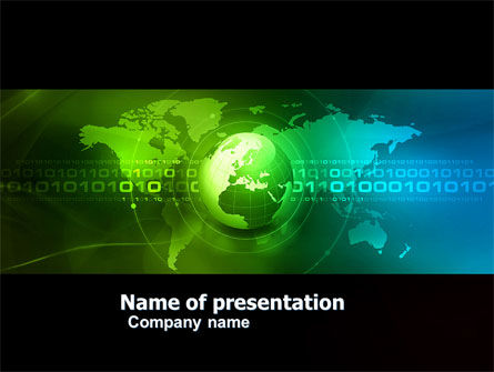 Web Over The Earth PowerPoint Template, 04970, Global — PoweredTemplate.com